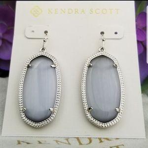 Kendra Scott, Slate Cat's Eye, Elle, Earrings
